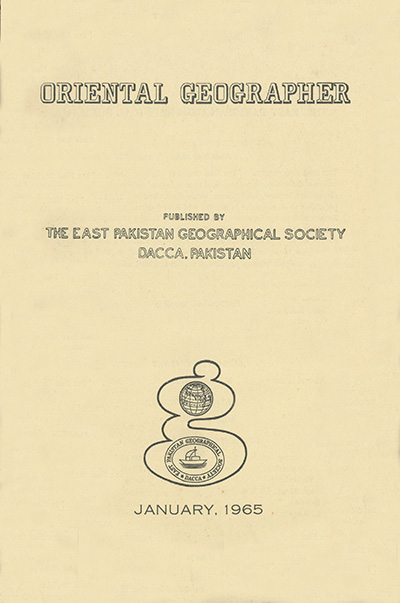 ORIENTAL GEOGRAPHER COVER 1965